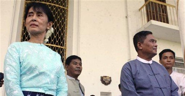 Suu Kyi holds talks with Myanmar gov't minister