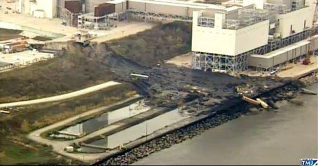 Cliff collapse causes mudslide at Wis. power plant