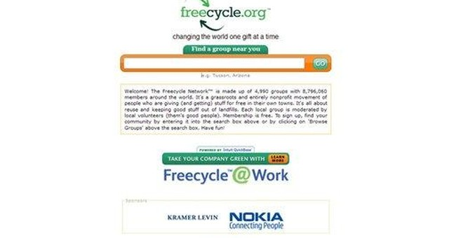 Freecycle network grows globally in bad economy