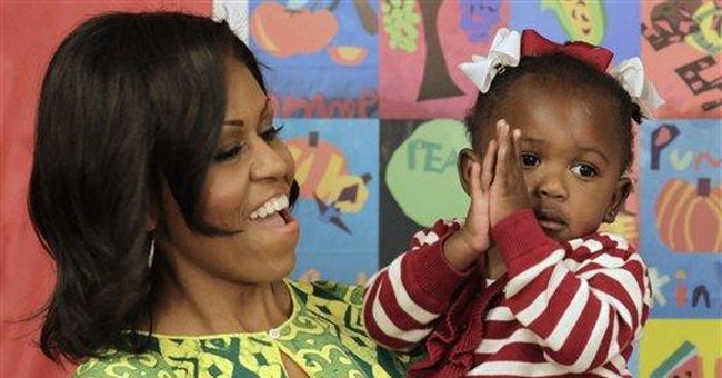 First lady in La. urges more green peas, exercise