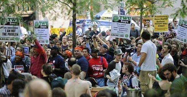 Occupy movement accepts modest help from the left