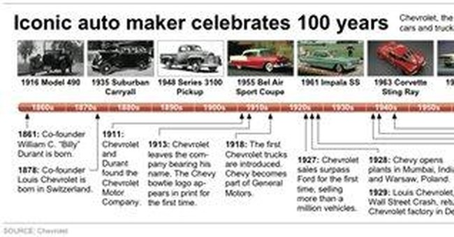 Like a Rock: Chevy celebrates 100th anniversary