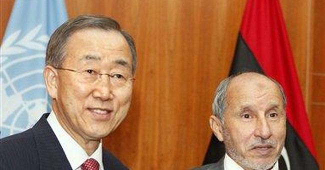 UN chief urges Libya to secure Gadhafi's weapons