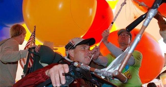 Oregon lawn-chair balloonist plans Baghdad flight