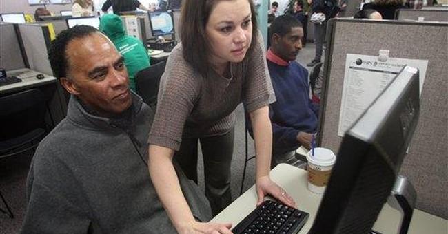 Fewer seek unemployment aid, hopeful sign for jobs