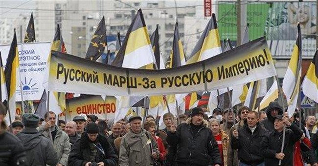 Thousands of Russian nationalists march in Moscow