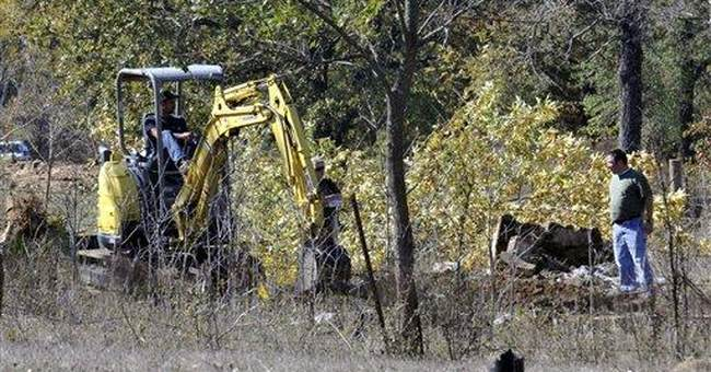 Okla. officials continue search for infant's body