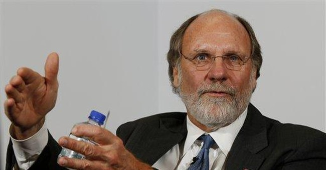 Corzine steps down at collapsed firm, hires lawyer