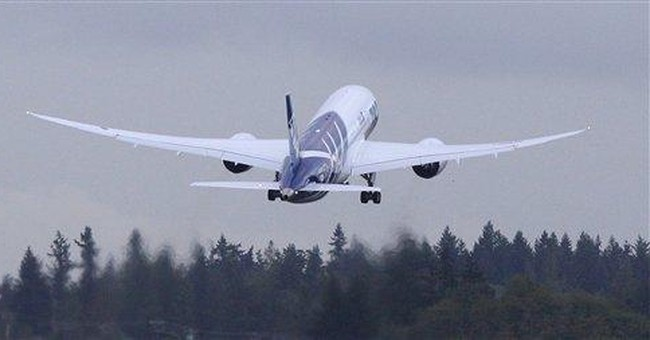 Boeing 787 lands safely after landing gear trouble