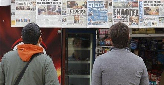 Greek rivals try to hammer out power deal