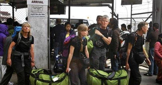 More stranded trekkers fly out of Everest region