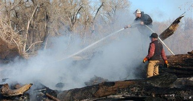 Montana torches oil-fouled debris from Exxon spill