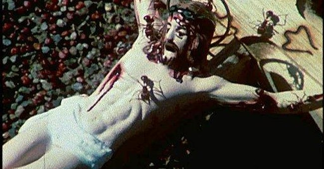 Edgy NYC museum to show film of ants on crucifix