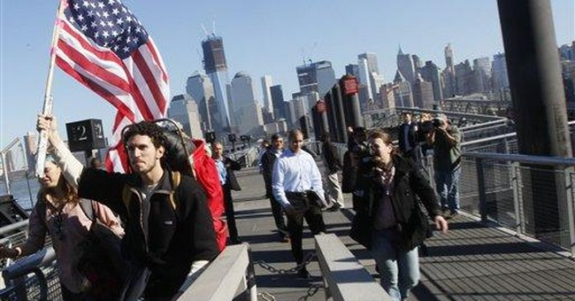 Occupy protesters start march from NYC to DC