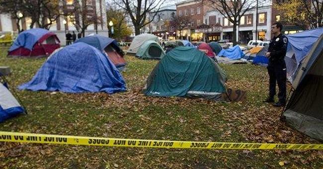Protesters: Veteran shoots self at Vt. encampment