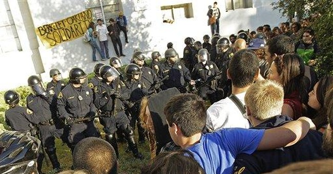 Dozens of Occupy protesters arrested at Berkeley