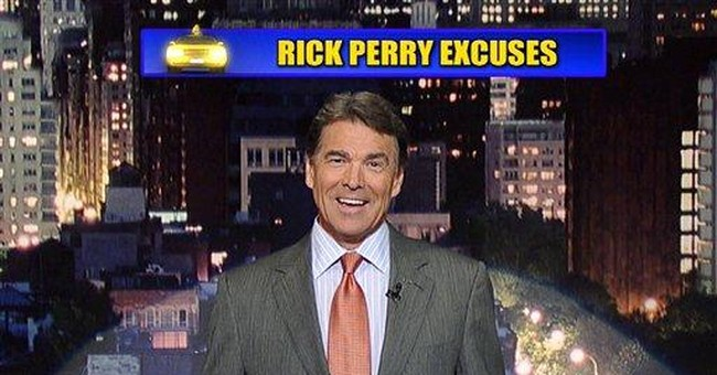 GOP hopeful Perry appears on Letterman