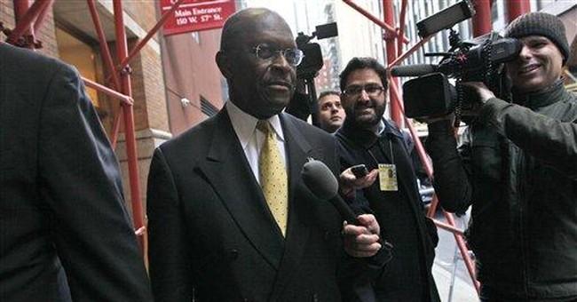 Cain seeks advantage in media attention