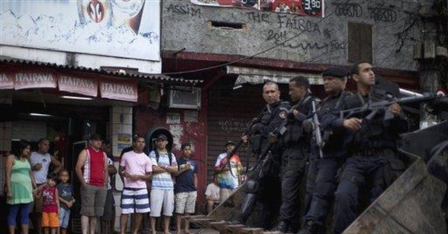 3,000 Brazilian police seize Rio's biggest slum