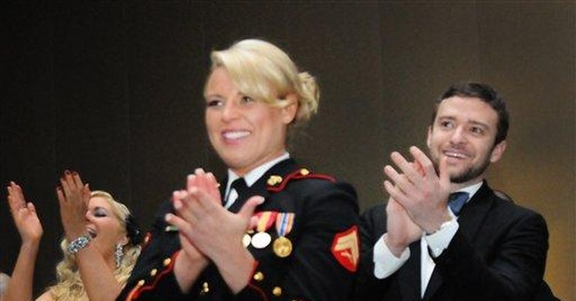 Va Marine corporal had a ball with Timberlake