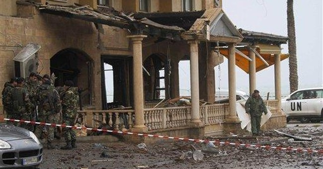 Blast at south Lebanon hotel popular with UN staff