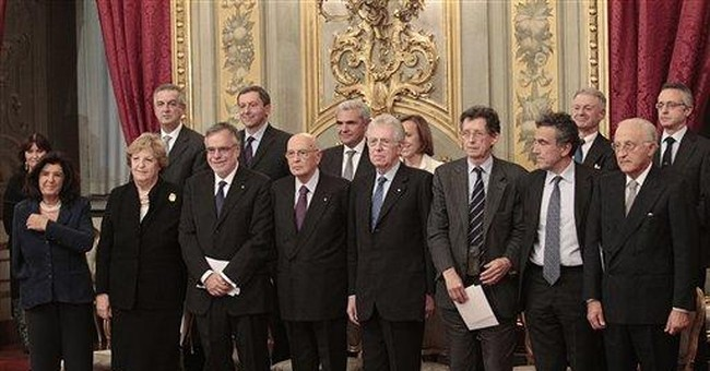 Monti forms new Italian govt with no politicians