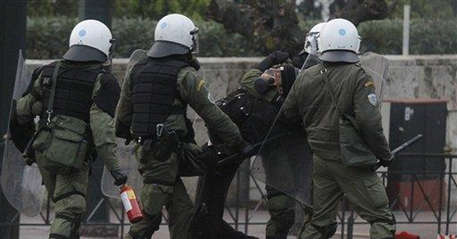 Greek protesters clash with police at US Embassy