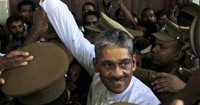 Imprisoned Sri Lanka war hero gets 3-year sentence