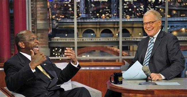 Cain, on Letterman, again denies harassment