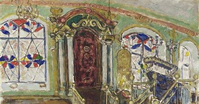 3 Chagall synagogue paintings up for sale in NYC