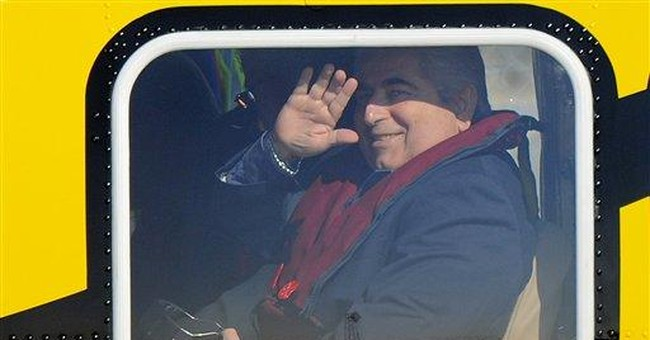 Cyprus president visits offshore gas rig