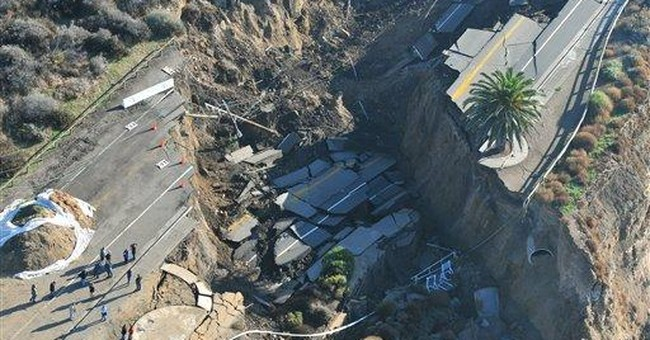 Collapsed LA coastal road unlikely to be repaired