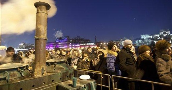 Russians flock to see Virgin Mary relic
