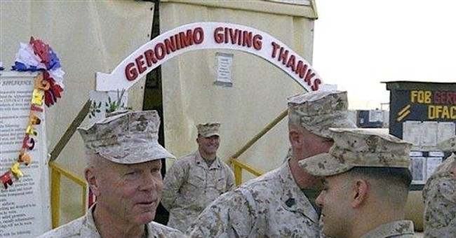Top Marine spends Thanksgiving in Afghanistan