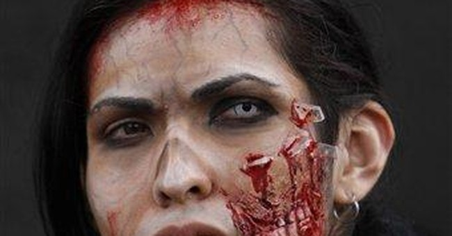 Mexico City 'zombies' gather to challenge record