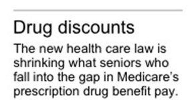 AP Newsbreak: Medicare's drug coverage gap shrinks