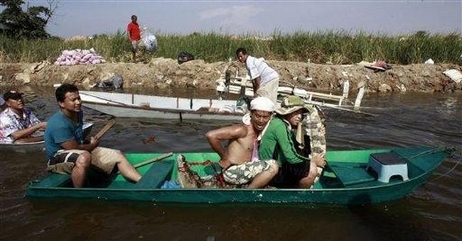 Receding floods reveal crocs lurking in Bangkok