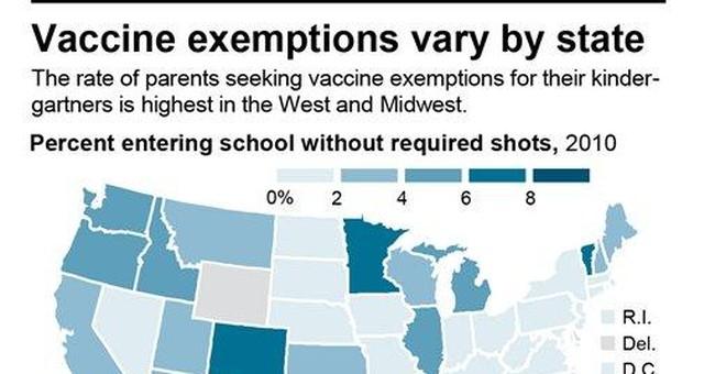 AP IMPACT: More kids skip school shots in 8 states