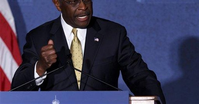 Cain doesn't talk about alleged affair in speech