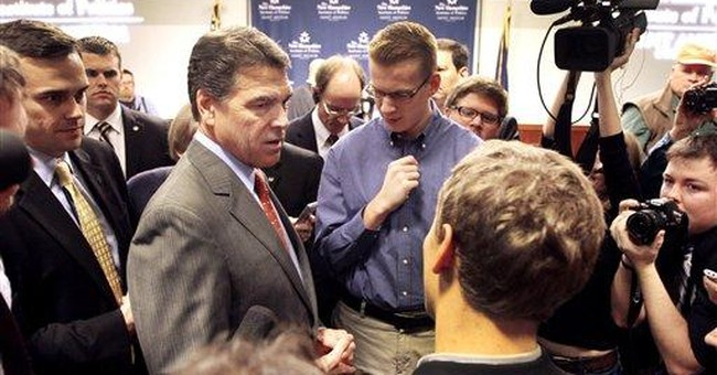 Perry confuses voting age in NH
