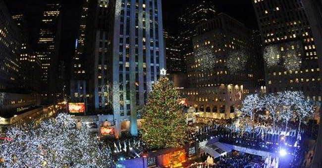 Pa. spruce shines in NYC's Rockefeller Center