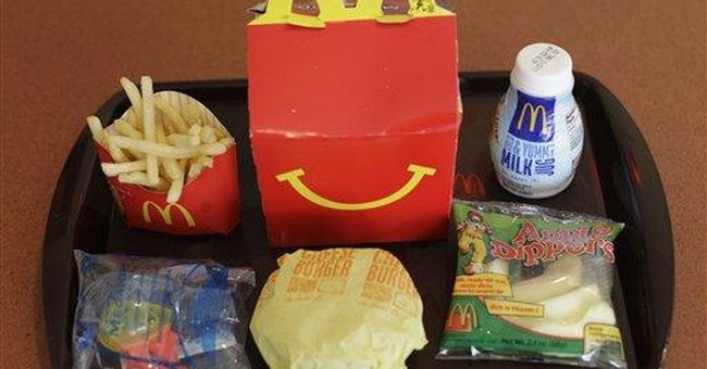 Want a toy with that Happy Meal? 10 cents please