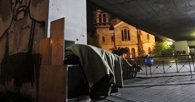 More Greeks homeless as crisis takes its toll