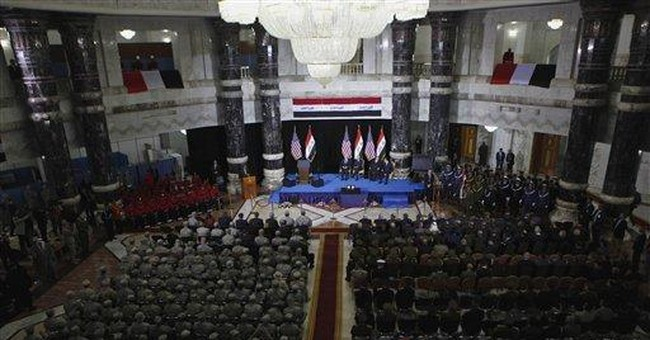 Icon of US military now in Iraqi hands