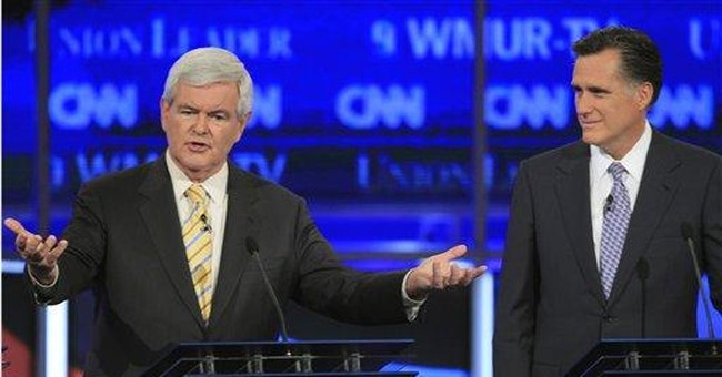 Romney faces 2 big rivals: Gingrich and Obama