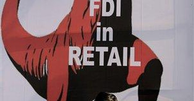 Indian shops protest entry of foreign retail