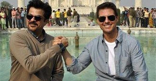 Tom Cruise visits India's iconic Taj Mahal