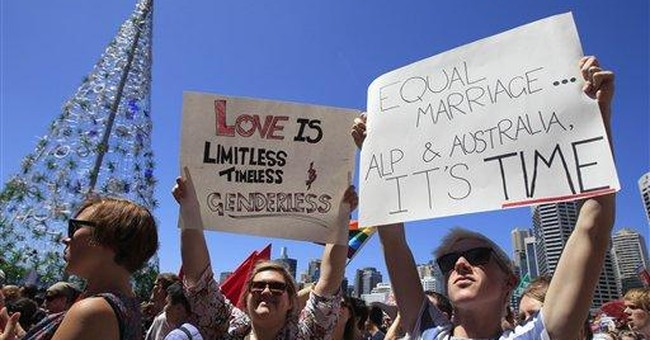 Australia's ruling party endorses gay marriage