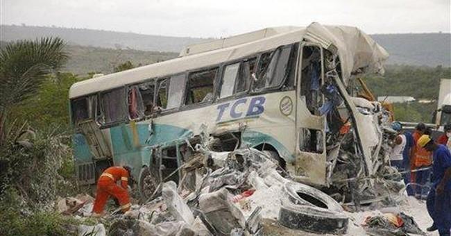 Brazil: 33 dead in truck-bus crash