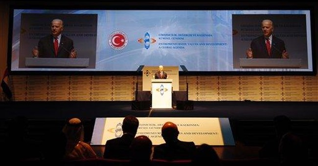 In Turkey, Biden touts political freedoms